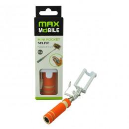 Max Mobile Selfie Stick mini džepni,žičani, Narandžasti