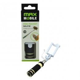 Max Mobile Selfie Stick mini džepni,žičani, Crni