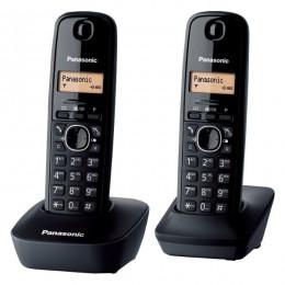 Panasonic telefon KX-TG1612FXH,KX-TG1612HGH - tamno sivi + dodatna slušalica