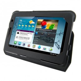 4World torba s postoljem za Galaxy Tab, ultra slim, 7 ''crna