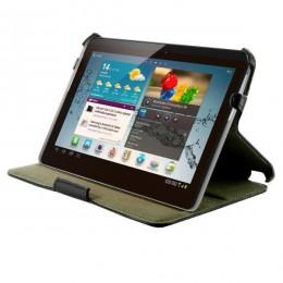 4World zaštitina futrola/postolje za Galaxy Tab, eko koža,7'', crna