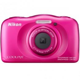 Nikon CoolPix S33 pink + torba