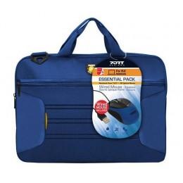 Port Designs Essential15 + miš torba za laptop Plava