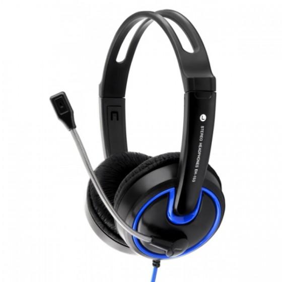Esperanza slušalice s mikrofonom Hornet EH153B plave