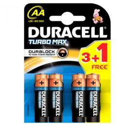 Duracell baterije TURBO MAX AA 3+1kom GRATIS