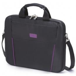 DICOTA torba za laptop slim 15,6 crna/ljubičasta