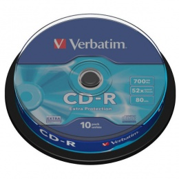 Verbatim CD-R 700MB 52x DataLife 10/1 spindle (V043437)