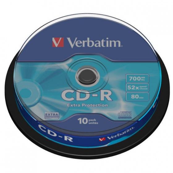 Verbatim CD-R 700MB 52x DataLife 10/1 spindle (V043437)
