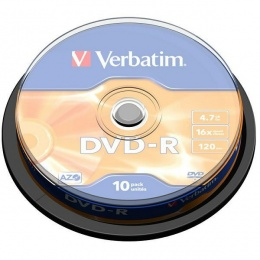 Verbatim DVD-R 4.7GB 16x Matt Silver 10 pack spindle (V043523)