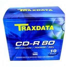 Traxdata CD-R 10/1 u kutiji, 52X, 700MB