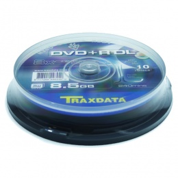 Traxdata DVD+R 8.5GB, x8, Dual Layer 10/1