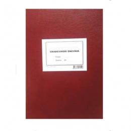 Knjiga građevinski dnevnik tvrdi uvez