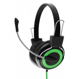 Esperanza slušalice s mikrofonom Falcon EH152G zelene