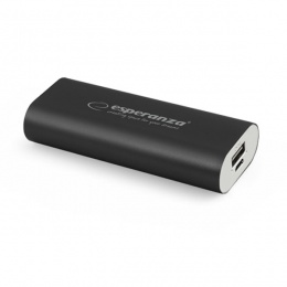 Esperanza power bank 4400mAh EMP105K crni