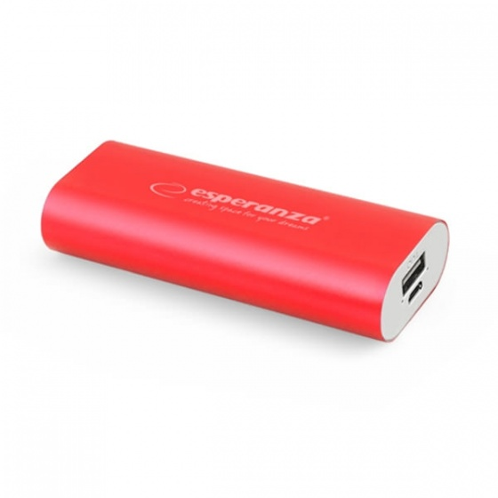 Esperanza power bank 4400mAh EMP105R crveni