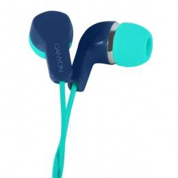 Canyon slušalice s mikrofonom CNS-CEPM02GBL plavo zelene