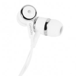 Canyon slušalice s mikrofonom CNE-CEPM01W bijele