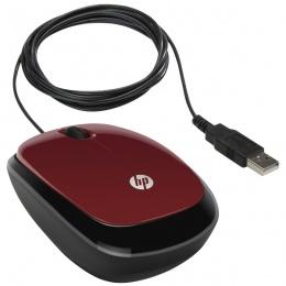 HP Miš X1200 crveni, H6F01AA