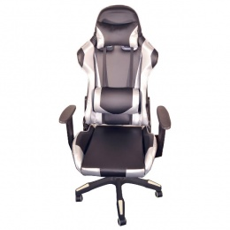 AH Seating Gaming stolica e-Sport DS-122-BS crna/srebrena