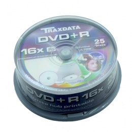 Traxdata DVD+R 25/1 Printable Cake, 9067A3ITRA014