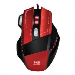 MS miš SAMURAI PRO Gaming crveni