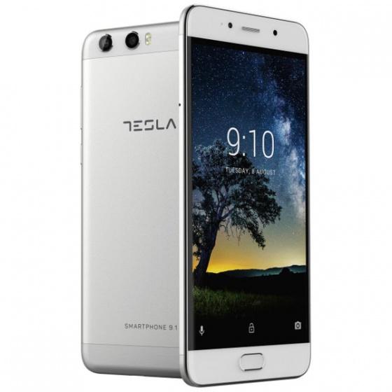Tesla smartphone 9.1 silver