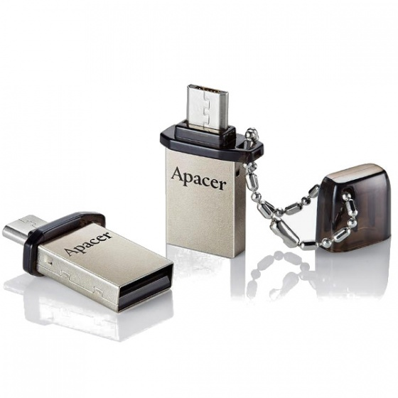 Apacer USB stick 8GB AH175 OTG Black