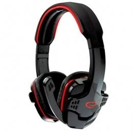 Esperanza Headset Raven EGH310R Gaming crvene