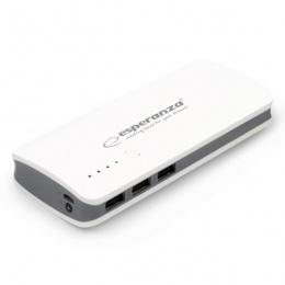Esperanza power bank 8000mAh EMP106WE bijelo/sivi