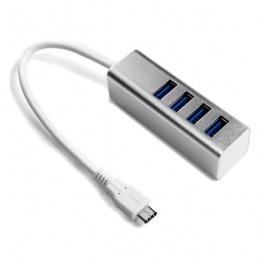 Asonic HUB USB 3.0 4-portni s Type-C