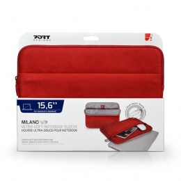 Torba za laptop PORT Milano sleeve 15,6 crvena