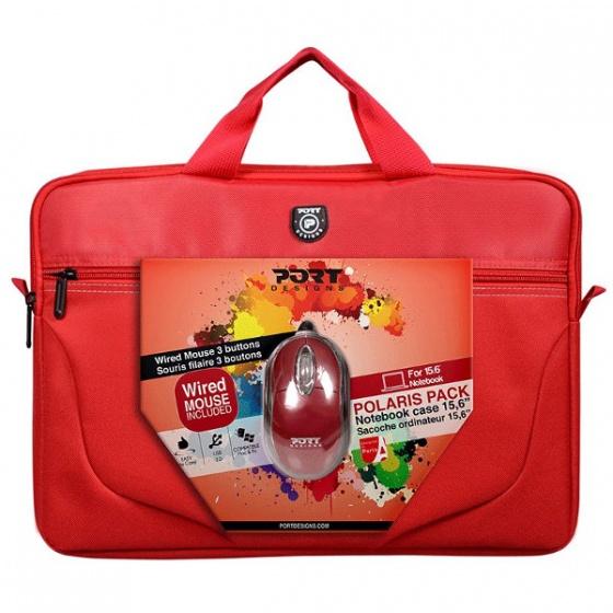 Torba za laptope + miš PORT Polaris II crvena