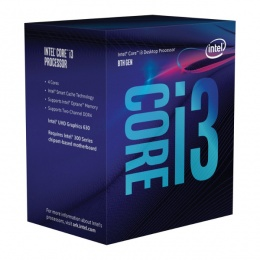 Intel Core i3 8100 3,60 GHz, LGA1151 BOX, Cofee Lake