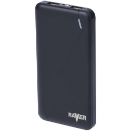 Raver powerbank Poly 1, 10.000mAh crni