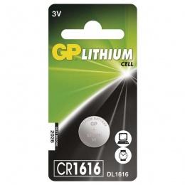 Baterija GP Litijska CR1616 3V blister 1/1 B15601