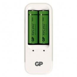 GP punjač baterijaPB410+ dvije baterije AA GP ReCyko+1300