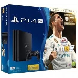 Sony PlayStation 4 PRO 1TB crni + Fifa 18 Ronaldo edition