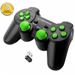 Esperanza gamepad Gladiator wireless za PS3, PC, USB crno-zeleni EGG108G