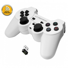 Esperanza gamepad Gladiator wireless za PS3, PC, USB bijelo-crni EGG108W