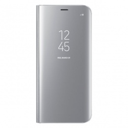 Samsung Galaxy S8 Clear View Standing Cover Silver