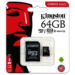 Kingston MC MicroSD 64GB Class 10 UHS-I, SDCS/64GB