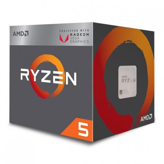 AMD Ryzen5 2400G APU 3,6 GHz, AM4