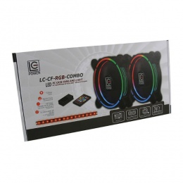 LC-Power LC-CF-RGB-COMBO 2x120mm RGB + Led Light