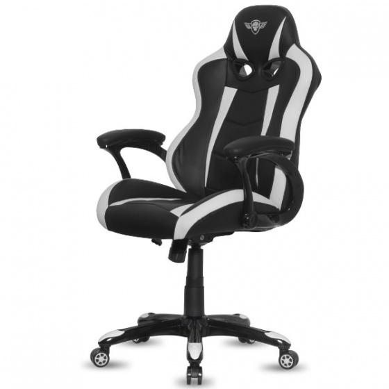 Spirit of Gamer stolica Racing crno-bijela SOG-GCRWT