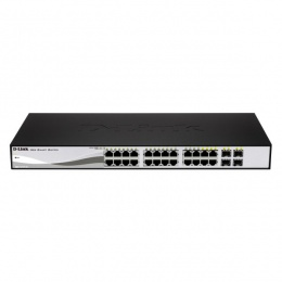 D-link 24-Port Gigabit PoE Smart Managed Switch with 4 combo 1000BASE-T/SFP ports (DGS-1210-24P)