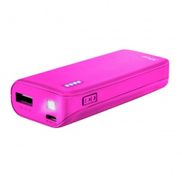 Trust power bank 4400mAh PRIMO Neon pink