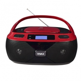 Vivax prijenosni radio CD player APM-1040 Bluetooth crveni
