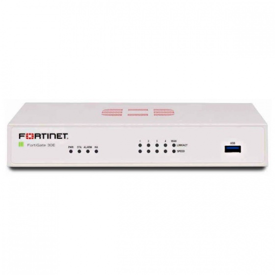 FortiGate-30E Hardware plus 1 Year 8x5 FortiCare and FortiGuard Unified (UTM) Protection