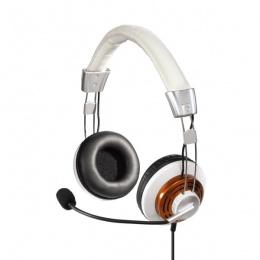 Hama slušalice HS-320+ mikrofon, bijele