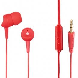 Hama slušalice Basic In-Ear+ mikrofon, crvene